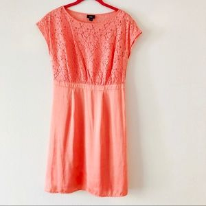 Peach lace & Satin Dress by Mossimo.